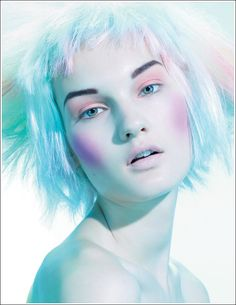 An editorial image from MAC's upcoming Tres Cheek Collection... but I think she looks like some kind of nixie.