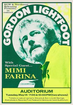 Gordon Lightfoot 1973 Portland Hippie Posters, Rock Posters, Music Posters, Concert Posters, Tired Humor, Tired Funny, Fly Fishing Knots, Gordon Lightfoot, Advertising History