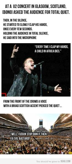Bono doesn't realize just how incredibly powerful he truly is :(