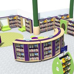 Library Design Service Elementary Library, Elementary Schools, Home Library Design, Library Shelves, Shelving Systems, Free Library, 3d Visualization, Water Tower, Design Consultant