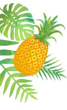 Colocar um abacaxi na mesa de decoração