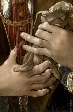 Jan Gossaert (c. 1530) - Portrait of a Gentleman - Detail