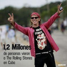 """Música - Concierto/ SUS """"SATÁNICAS MAJESTADES"""" HAN CIFRADO EN 1,2 MILLONES LOS ASISTENTES A SU HISTÓRICO CONCIERTO EN LA HABANA   La mítica banda de rock británica The Rolling Stones afirma que reunió en su histórico concierto en La Habana a 1,2 millones de personas, una cifra que superó las previsiones de los organizadores y de los primeros cálculos de algunos medios tras su actuación.  """"El viernes The Stones tocaron para 1,2 millones de personas en Cuba"""", publicaron sus """"Satánicas…"""