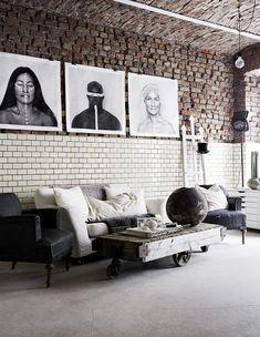 HappyModern.RU | 60 идей кирпичной стены в интерьере (фото) | http://happymodern.ru