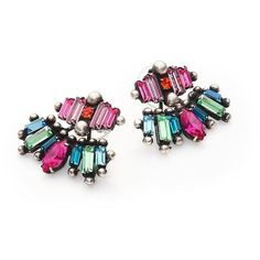 DANNIJO Laritza Crystal Ear Jacket & Stud Earrings Set (10.895 UYU) ❤ liked on Polyvore featuring jewelry, earrings, dannijo, apparel & accessories, stud earrings, multi colored stud earrings, colorful stud earrings, dannijo earrings and multicolor earrings