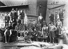 Hyttgubbar i masungnskransen 1895