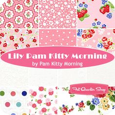 Lily Pam Kitty Morning fat quarters
