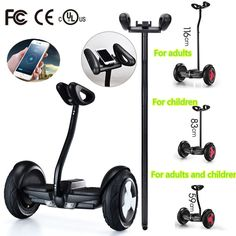 2016 Newest 2 wheel hoverboard skateboard 10 inch smart self balancing wheel electric scooter with Mobile APP hover board Black <3 This is an AliExpress affiliate pin.  Click the image to visit the AliExpress website