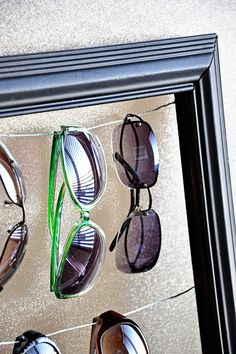 I really need to make one of these! too many sunglasses and can never find where i put them!