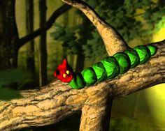 Rupsje Nooitgenoeg naar een verhaal van Eric Carle The Very Hungry Caterpillar Digitaal verhaal