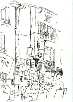 Festival d'Avignon en 2010.  Feutre.