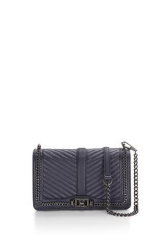 Chevron Quilted Chain Love Crossbody - Meet your new going-out bag. Featuring eye catching hardware, the Love Crossbody is a match made in heaven with any outfit. Wear it crossbody or remove the chain strap to use it as a clutch.