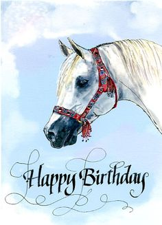 Happy birthday images with Horses
