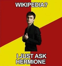 Wikipedia would be nothing but 'light reading' to Hermoine ;).