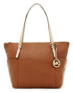 Michael Michael Kors Jet Set Zip-top Tote Luggage Smooth Leather With Buff Leather Handles thumbnail Michael Kors Jet Set, Michael Kors Outlet, Handbags Michael Kors, Leather Handle, Smooth Leather, Leather Bags, Cheap Clothes Online, Christmas Gifts For Men, Summer Fashion Trends