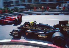 Patrick Tambay   Ayrton Senna (Monaco 1986) by F1-history.deviantart.com on @DeviantArt