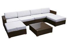 7-Pcs Leo Lounge Set, White