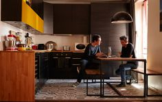 Florian and Fabien's bold open-plan kitchen and dining area