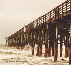 Flagler Beach Pier | Florida - waves after Hurricane Hermine