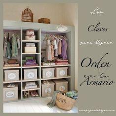 Claves para lograr orden en tu armario.