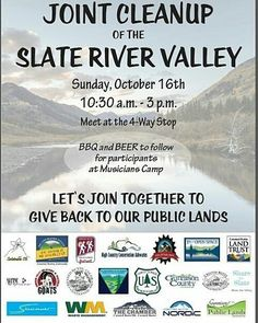 "We love the Slate!  Give some love back to the land that you love!  Regram from @sharetheslate -  Come join us for Slate River Cleanup Day on Sunday Oct. 16th!  We hope to see ALL of you there!  For more info visit sharetheslate.com (link in profile) and click on ""Updates"". Or visit the following: 2016/10/join-us-for-joint-slate-cleanup-day/ #Regrann"
