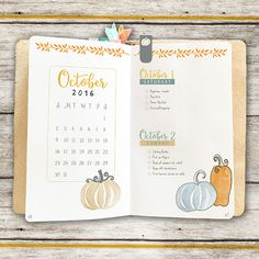 Plan Perfect - October Mini Planner Kit Layout