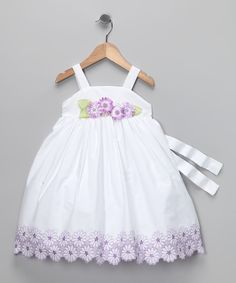 White & Lilac Floral Dress - Infant, Toddler & Girls  Cute for a country wedding flower girl?
