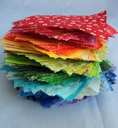 Rainbow fabric swap each spring. Going on right now, sign up before 2/21