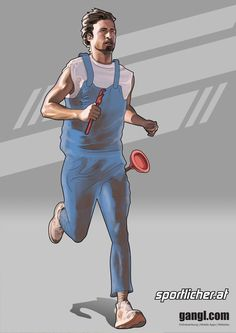 Running Plumber by valadorf on DeviantArt Disney Characters, Fictional Characters, Deviantart, Running, Disney Princess, Illustration, Style, Swag, Keep Running