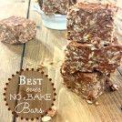 Peanut Butter Oatmeal No Bake Bars featured