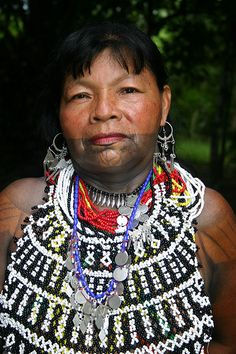 Embera Wounaan indian in Sambú, Panama