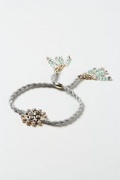 Jewled Drop Rope Bracelet #anthropologie  How sweet is this?