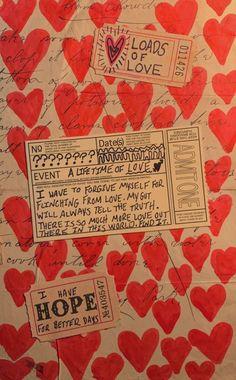 Arte Punk, Art Diary, Scrapbook Journal, It Goes On, Pretty Words, New Wall, Journal Inspiration, Journal Ideas, Love Letters