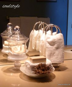 Staging Bathroom Towels | Sure, this may not be what the bathroom counter usually looks like ...