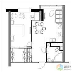 Фотографии [96080]: Перепланировка однокомнатных квартир, новостройки. от дизайнера Валерия Доронина