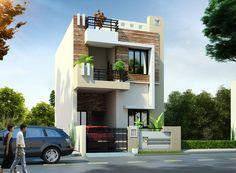 3d Home Design, Duplex House Design, House Front Design, Building Elevation, House Elevation, West Facing House, Front Elevation Designs, Free House Plans, Ceiling Design Living Room