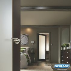 Add contemporary flair to your room in just minutes with a Schlage® Merano Lever. In a Satin Nickel Finish, this door hardware delivers delicate yet chic style that'll complement any modern space.