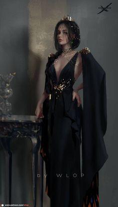 Fantasy Art Women, Beautiful Fantasy Art, Dark Fantasy Art, Fantasy Girl, Female Character Design, Character Art, Character Inspiration, Fashion Art, Fashion Outfits