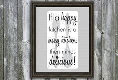 8 X 10 Kitchen Quote - For the Kitchen - Wall Art - Gray Utensils. $20.00, via Etsy.