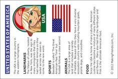 Printable USA Facts Card is a perfect handout on Thinking Day. www.makingfriends.com