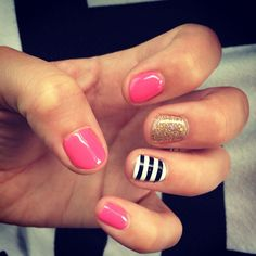 Kate Spade nails !                                                                                                                                                                                 More
