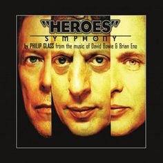 PHILIP GLASS - Heroes Symphony * LP, Limited & OOP WHITE vinyl * DAVID BOWIE