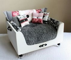Fancy Dog bed looks like nice barbie couch