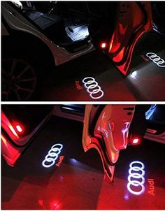 Flyox Car Door LED Lighting Entry Ghost Shadow Projector Welcome Lamp Logo Light for Audi Series Pack): Automotive Audi A1, Logo Audi, Custom Car Accessories, Led Projektor, Lamp Logo, Car Headlight Bulbs, Lighting Logo, Old Lights, Autos
