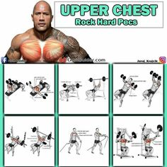 Upper chest workout chart - The upper chest is the most stubborn chest area to grow, meaning that it needs plenty of extra stimulation, compared to the mid an Fitness Workouts, Fitness Motivation, Weight Training Workouts, Fun Workouts, Cardio Gym, Fitness Quotes, Lower Chest Workout, Chest Workout For Men, Chest Workouts