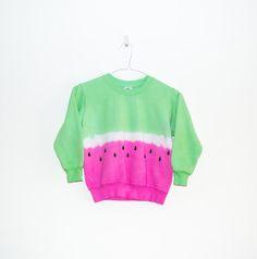 Tie Dye Sweatshirt Watermelon Kidswear Girls Clothing Childrens Gift 3-4 Years // 5-6 Years // 7-8 Years