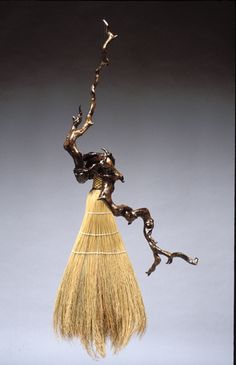 As Above, So Below. Handmade with rhododendron roots for the handles. Friendswood Brooms.