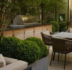 A London Roof Terrace – Bowles & Wyer Outdoor Rooms, Outdoor Gardens, Outdoor Living, Outdoor Decor, Roof Gardens, Outdoor Kitchens, Garden Furniture, Outdoor Furniture Sets, Roof Terrace Design