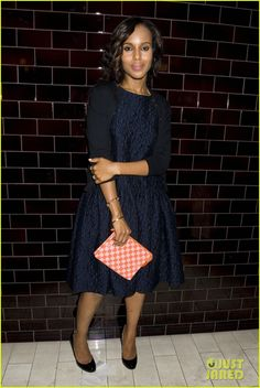 Kerry Washington (with a Louis Vuitton clutch) - Jason Wu Fashion Show After-Party @ Mercedes-Benz Fashion Week Spring 2014 in New York City.  (September 6, 2013)