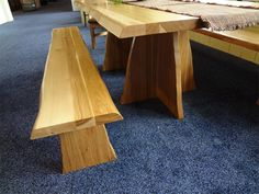 Amish Rustic Country Slab Bench